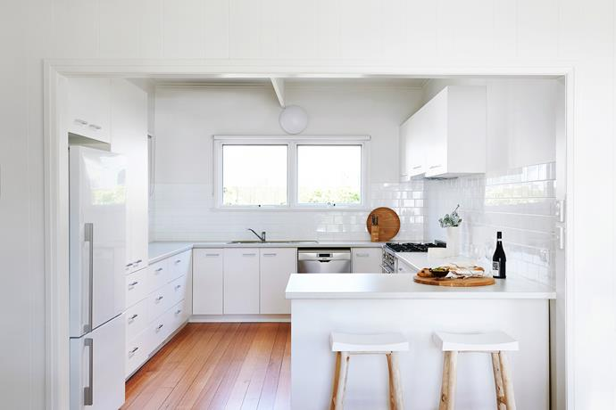 A functional layout that could withstand all the knocks from summer renters was the prime requirement for the kitchen.