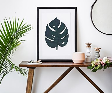DIY monstera leaf print