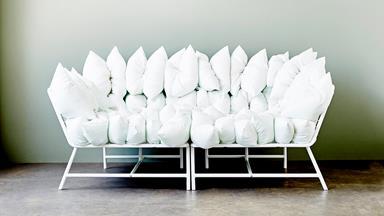 One piece styled three ways: IKEA sofa
