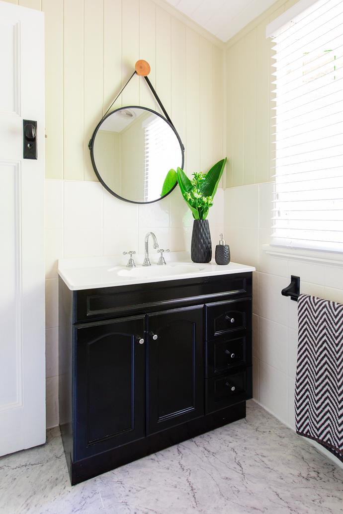 Old fittings were replaced with classic chrome taps and an on-trend mirror.