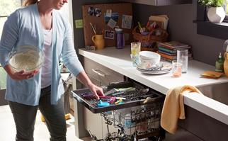 dishwasher stacking