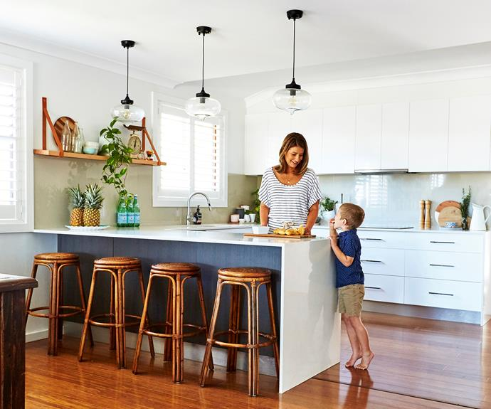 The peninsula kitchen design works best for small kitchens. Photo: Andrew Findlayson / bauersyndication.com.au