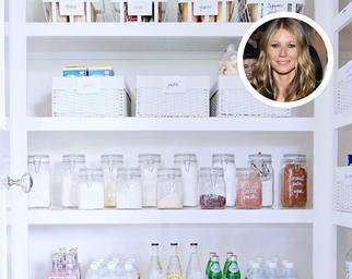Gwyneth Paltrow pantry