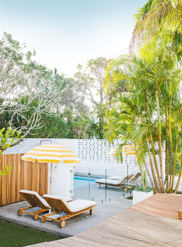 "***BASK & STOW*** <p> <p>Enjoy a slice of Palm Springs right in the heart of Byron Bay at [Bask & Stow, a boutique guesthouse](https://www.homestolove.com.au/bask-and-stow-guesthouse-byron-bay-5309|target=""_blank"") just a stone's throw from the beach. With rooms inspired by mid-century modern design, expect to find rooms decked out with a mix of vintage and contemporary furniture and bright pops of colour.<p> <p>**For bookings and information, visit [Bask & Stow](http://baskandstow.com.au