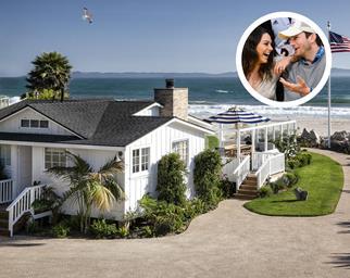 Mila Kunis and Ashton Kutcher Santa Barbara beach house