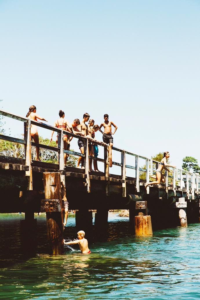 Bridge-jumping is a top summer pastime.