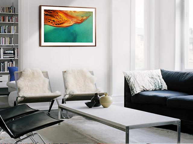 **Ever-changing art.** Neutral-toned spaces allow for constant art updates. If you're struggling to decide on one statement piece for your home, or are partial to change, [Samsung's The Frame](http://www.samsung.com/au/tv-av/the-frame) is an ideal solution. When not in use, the TV displays one of 100 different artworks from globally renowned artists, meaning you can change your living room's feature piece any time you like all while concealing your TV's place in the living room. How's that for an at-home art experience. *Photography: supplied*