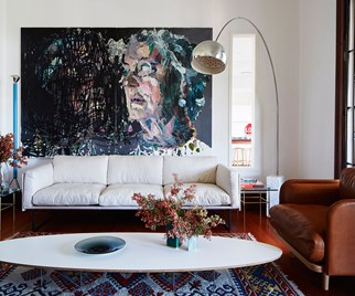 living room art painting