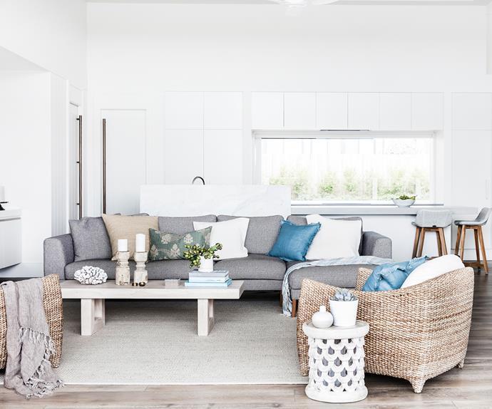 Neutral colour scheme living room