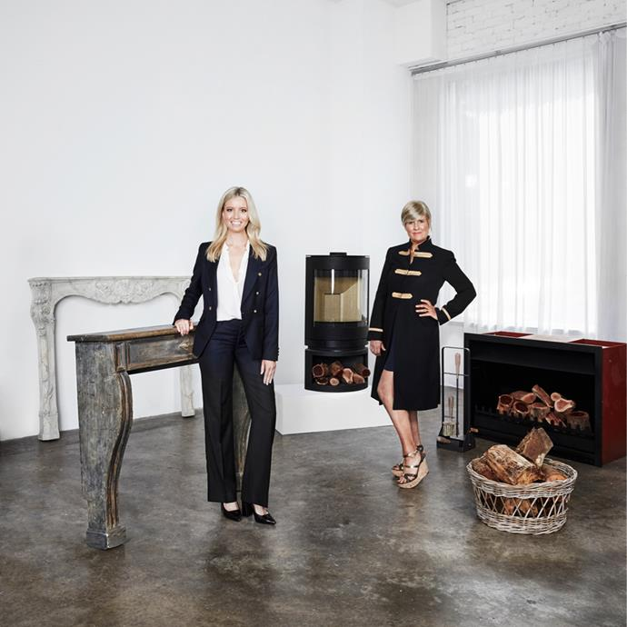 **From left:** Roberto Giovannini 'Regency' fireplace, $4960, from [Laura Kincade](http://www.laurakincade.com/store/). French Directoire-