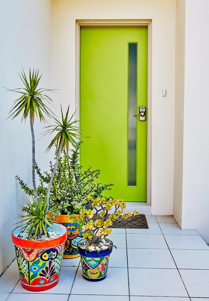 Jelena from coastal NSW had the paint mixed at Bunnings to make the colour she wanted. Such a happy entrance!