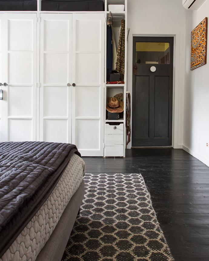 Stylishly on-trend, grey doors feature throughout Greg's house in Daylesford, Victoria.