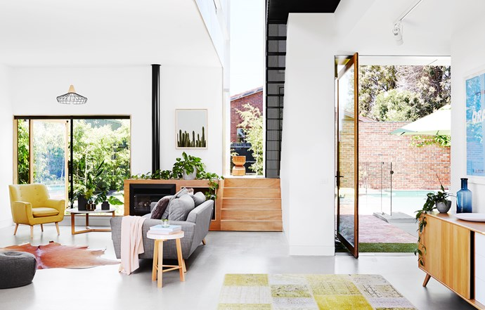 """When space is the top priority, the temptation is to go all-out open plan, but Matthew and Andrea resisted. """"We didn't want a completely open layout,"""" says Andrea. """"We prefer to have rooms we can each retreat to for alone time as well as areas where we can come together as a family."""""""