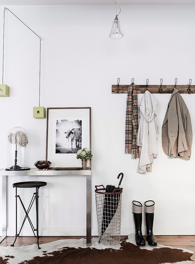 Minimise mess-prone areas by installing space-solving solutions such as coatracks and umbrella stands. Photography: Maree Homer  / bauersyndication.com.au
