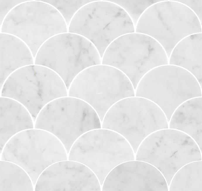 Mos Navona Fan Ice Stone, 290mm x 290mm, $44.50, from Beaumont Tiles.