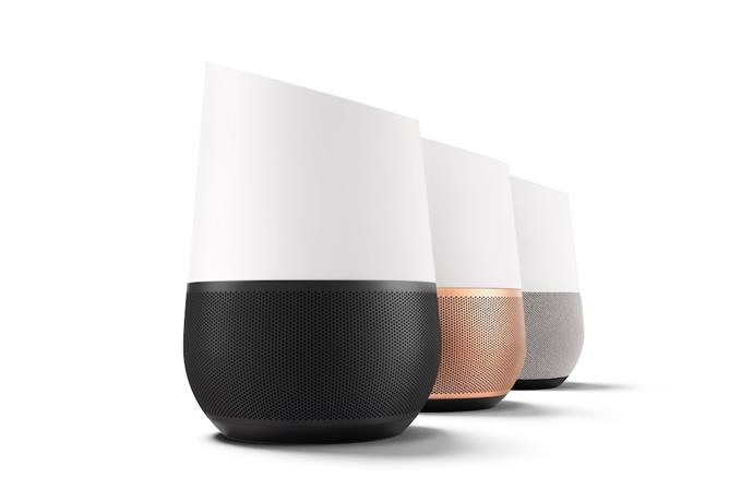 Google Home is available in three designs to suit any style of home.
