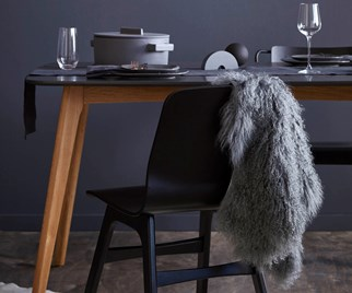 dark scandi dining room