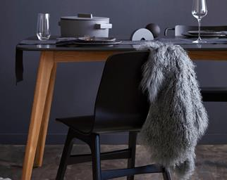 dark scandi dining room