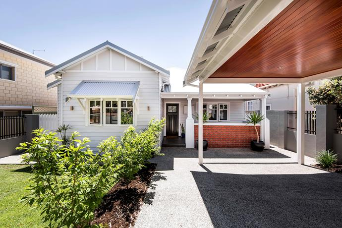 An unremarkable fibro house was covered with composite weatherboard to give it a heritage feel. See more of this [Perth worker's cottage renovation](http://www.homestolove.com.au/renovation-takes-perth-cottage-from-fibro-to-fabulous-5463). *Photography: Dion Robeson | Story: Australian House & Garden*