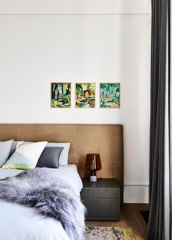 Pops of pastel enliven a largely neutral colour scheme.