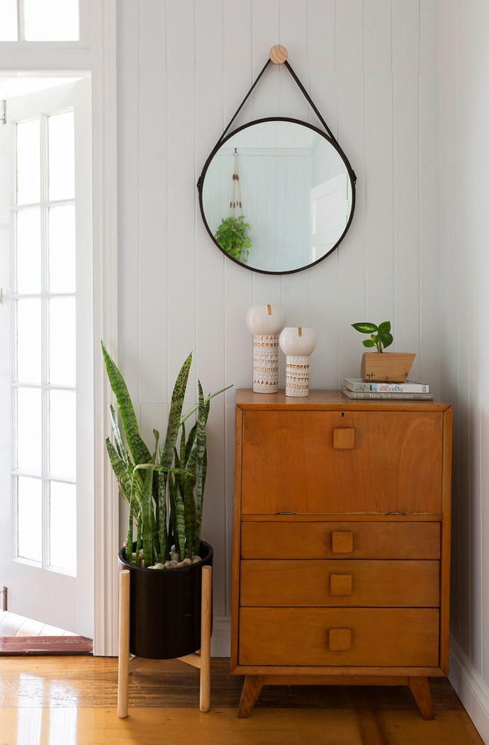 Katie says this mid-century writing desk, found at a garage sale, is her best buy for the home.