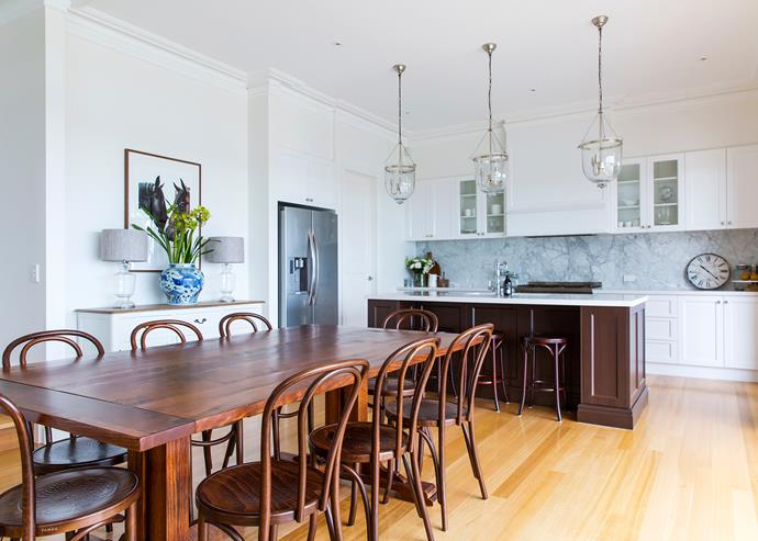 """Swapping heavy chairs for these bentwoods """"completely changed the space,"""" says Louise."""