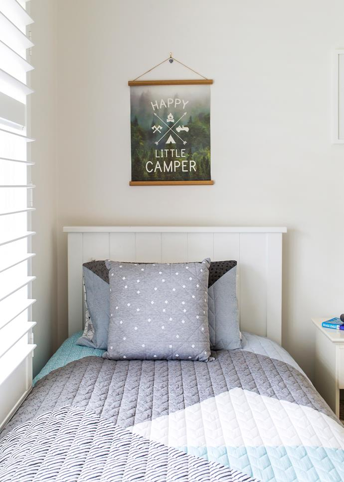 Inexpensive wall art is perfect for Jack's age and stage.