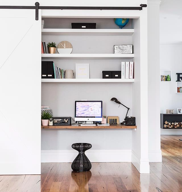 Section off unused hidey-hole spaces in your home to use as a homework hub or home office, without cramping the rest of the house. *Photo: Maree Homer / bauersyndication.com.au*