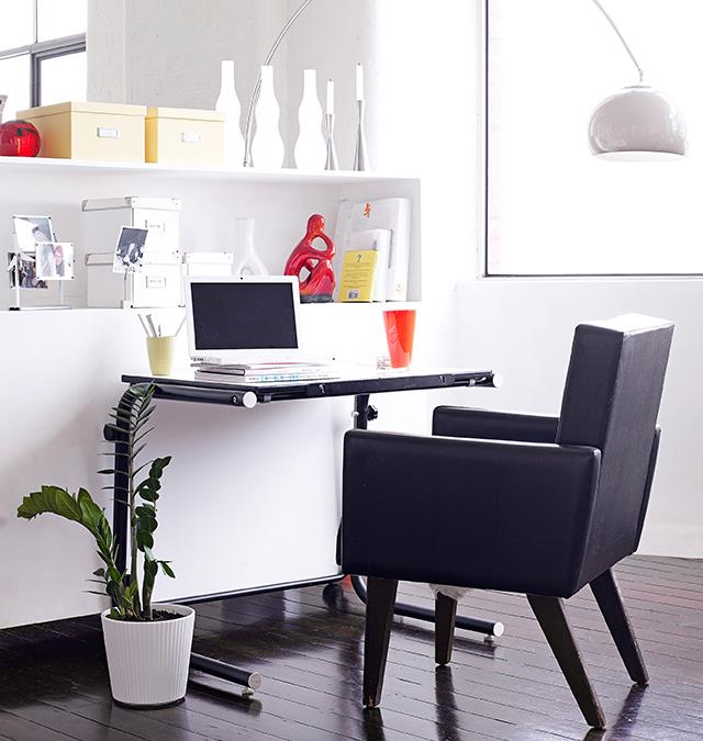 Try an overhanging lamp to banish cords and free desk space. *Photo: Derek Swalwell / bauersyndication.com.au*