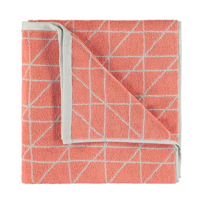 Coral bath towel, $10.