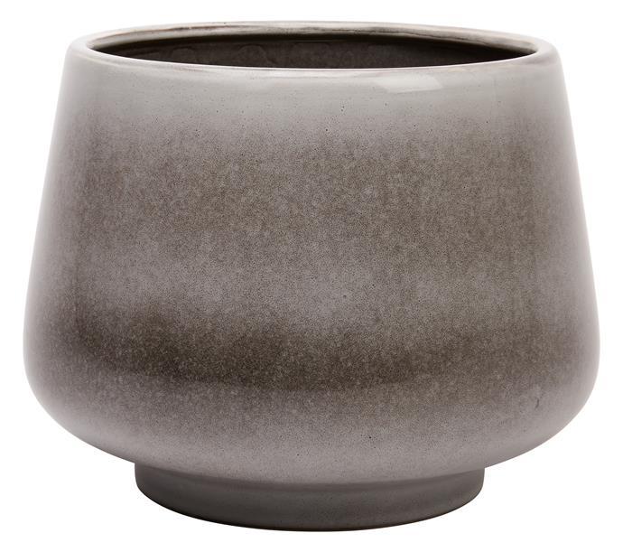 Glazed pot, $10.
