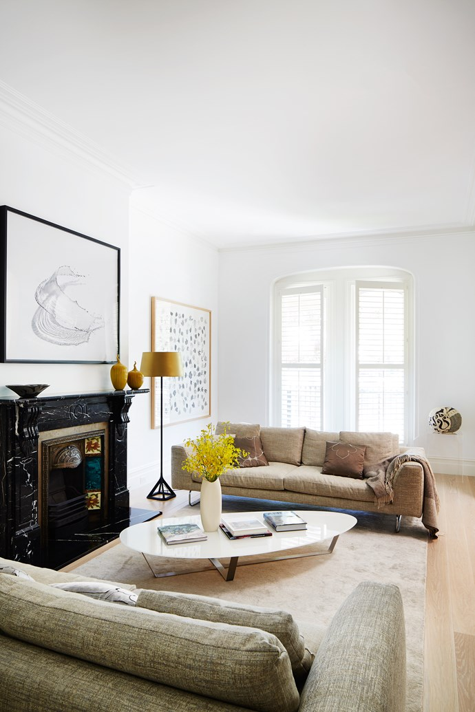 Architectural grace notes retained from the home's Victorian-era provenance merge seamlessly with contemporary furnishings.