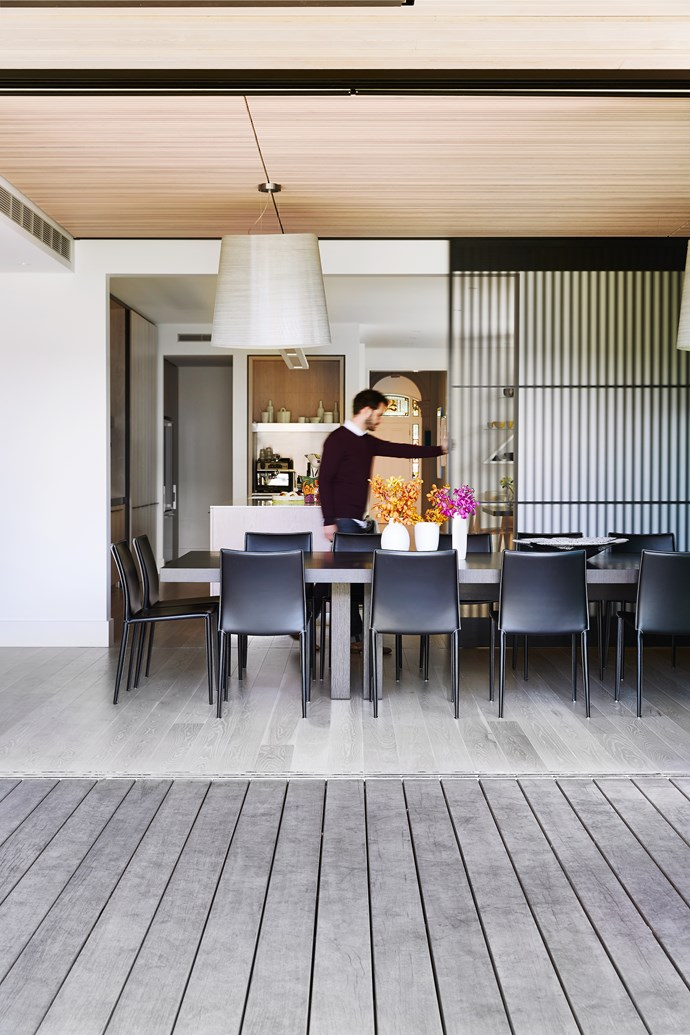 """Jamie Sormann of Foomann Architects in this new space, which has a strong Japanese sensibility. """"Working with Alan and Zorita allowed us to not just on the overall scheme but also the details, which transforms a projects into something quite special,"""" says Jamie, who worked alongside co-director Jo Foong."""