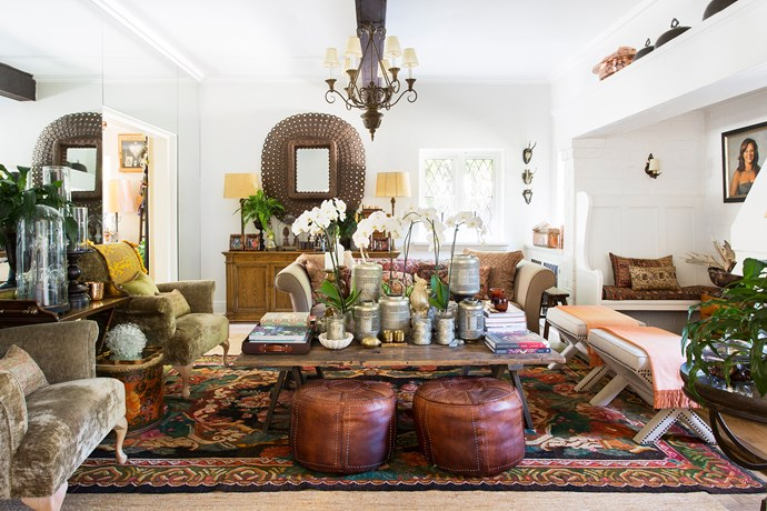 """I'm an avid collector and like each corner to tell a story,"" says Chyka. She has filled the house with eclectic finds picked up on her travels, from exotic Middle Eastern artefacts to large pieces of Mexican silver."