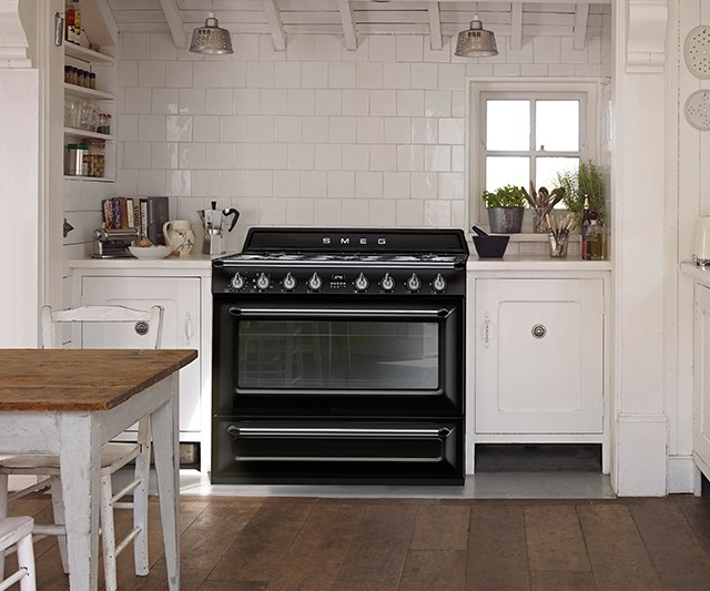 Seen here in its award-winning Victoria upright style, the new Smeg Thermoseal cookers include integrated self-cooling, preventing surrounding cabinetry from heat-related damage. *Photo: supplied*