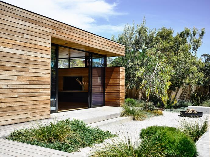 The design features strong links from indoors to out.