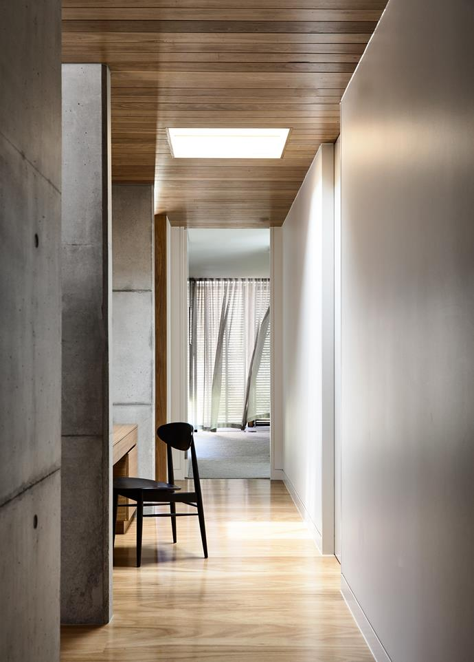 Interior fittings and finishes were chosen to blend into the powerful architectural palette.