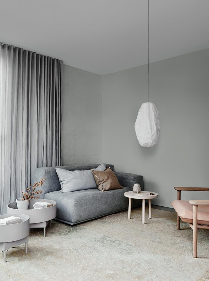 Walls – Dulux Spanish Olive | Ceiling – Dulux Terrace White. *Dulux Colour Trends 2018 – Essential Palette. Styled by Bree Leech. Photographer: Lisa Cohen*