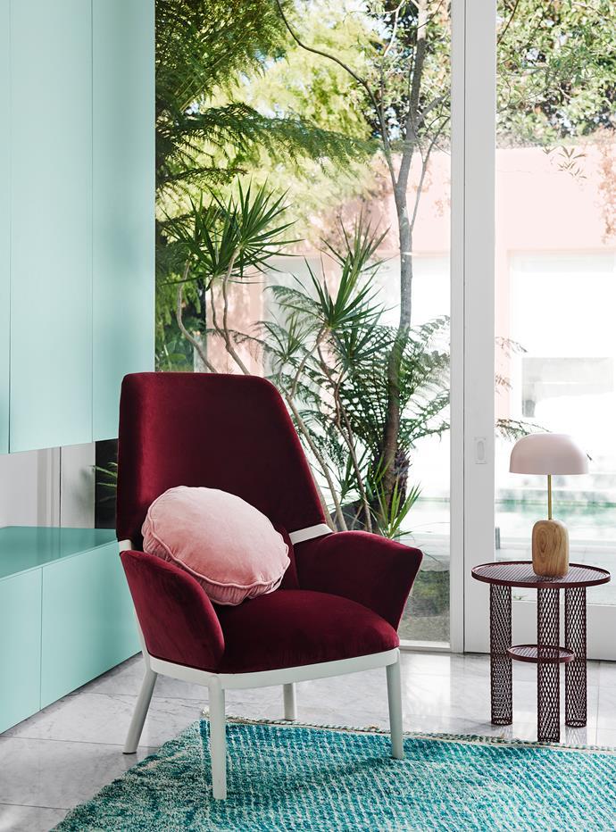 Cupboards – Dulux Solution | Trim – Dulux Vivid White. *Dulux Colour Trends 2018 – Escapade Palette. Styled by Bree Leech. Photographer: Lisa Cohen*