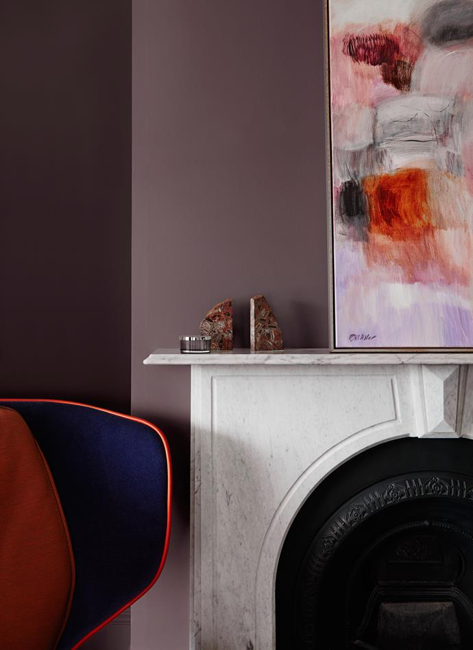 Wall – Dulux Bruised Burgundy. *Dulux Colour Trends 2018 – Reflect Palette. Styled by Bree Leech. Photographer: Lisa Cohen*