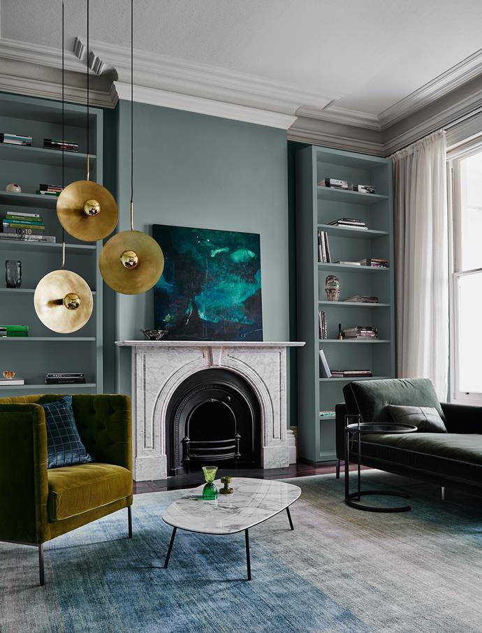Walls & Shelves – Dulux Goyder Green | Ceiling & Trim – Dulux Lexicon Half. *Dulux Colour Trends 2018 – Reflect Palette. Styled by Bree Leech. Photographer: Lisa Cohen*