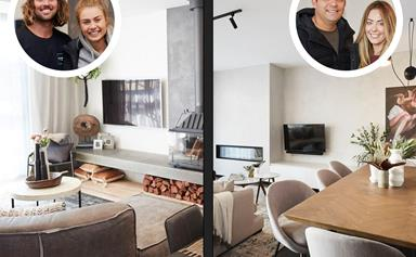 The Block's luxury living and dining room reveals result in an awkward tie