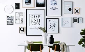 print gallery wall