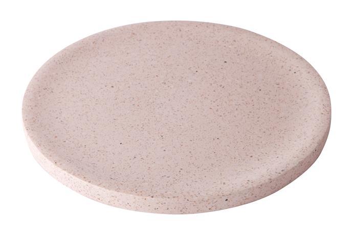 Terrazzo Dimple Tray, $89, [Zakkia](http://www.zakkia.com.au/terrazzo-dimple-tray-large-rose).