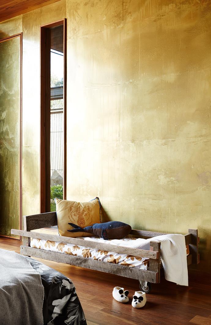 Ben built Fela's bed and Tijana made the whale cushion. Fela's bedlinen, Castle.