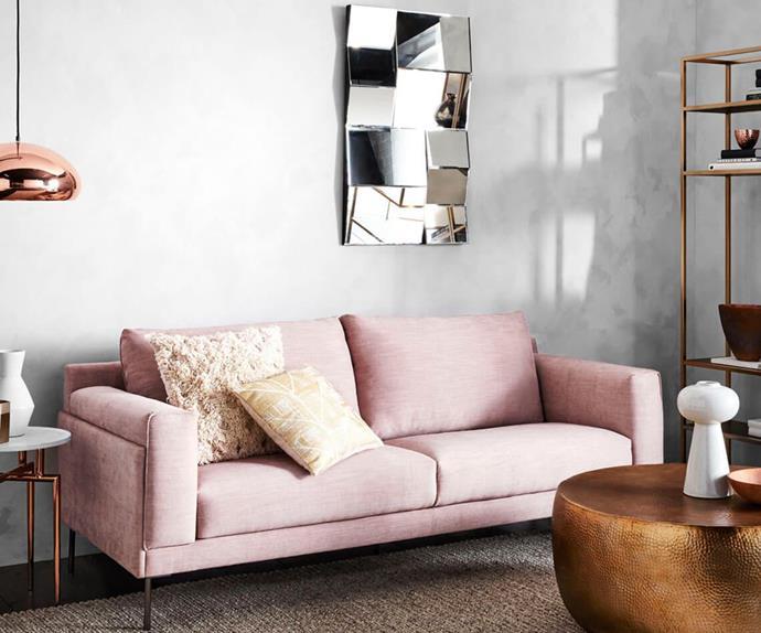 Millennial Pink sofa