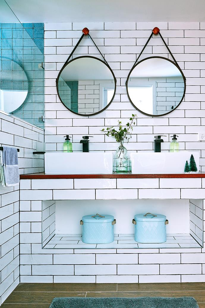 Contrasting grout colour with tiles has become one of the latest trends to wow European interiors. *Photographer: Scott Hawkins/bauersyndication.com.au*