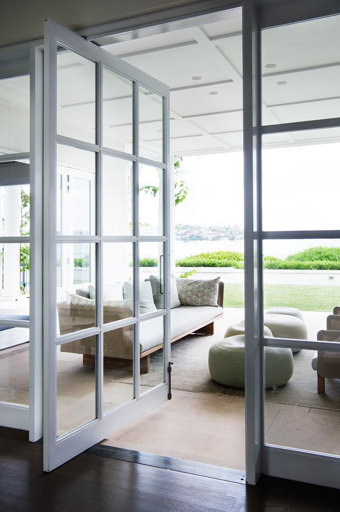The outdoor living area faces the harbour view.