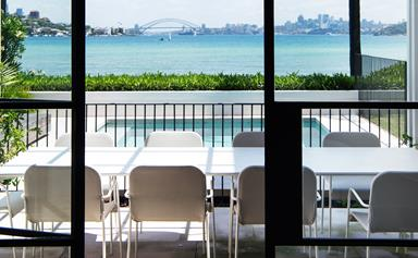 Sydney harbourside house with a Mediterranean feel