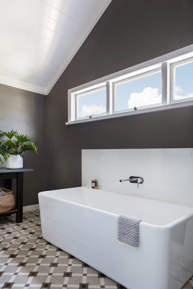 """Although flooded with natural light, this [contemporary family bathroom](https://www.homestolove.com.au/contemporary-family-bathroom-design-5736